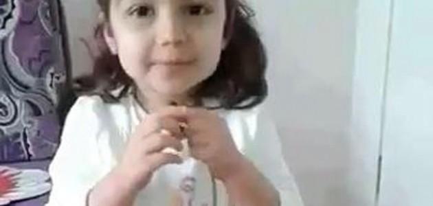 Minik kızdan anne ve babalara nasihatler