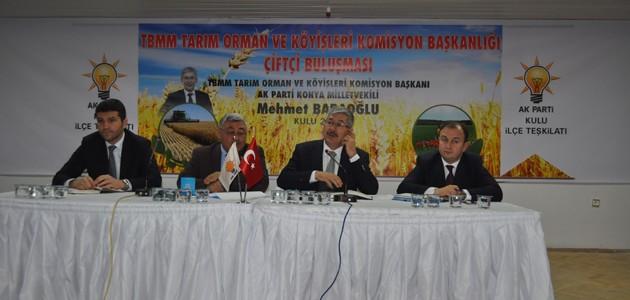 Mehmet Babaoğlu çiftçilerle buluştu