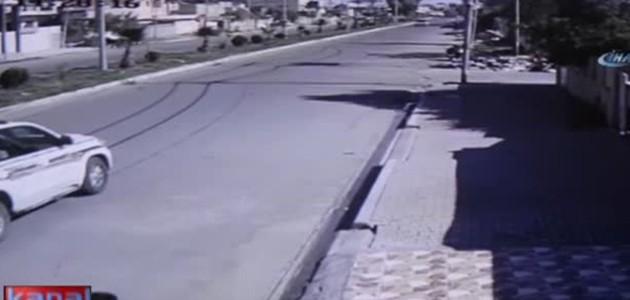 Bomba yüklü motosikletle saldırı kamerada