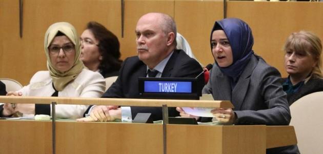 Aile ve Sosyal Politikalar Bakanı Kaya BM Genel Kurulunda