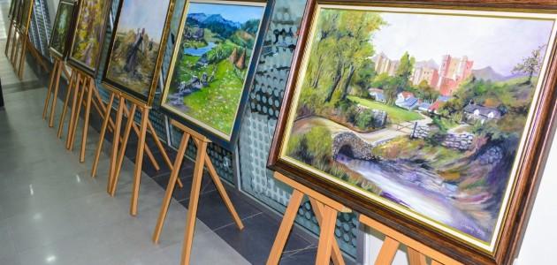 Meram Belediyesi'nde yağlı boya resim sergisi açıldı