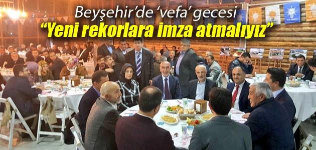 Beyşehir'de 'vefa gecesi'