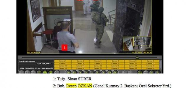Darbe sanığı binbaşı güvenlik kamera görüntülerini inkar etti