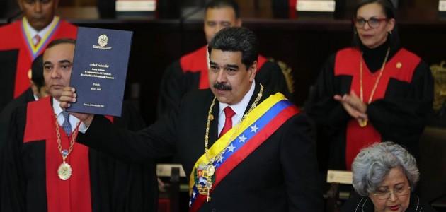 Venezuela'da Maduro devlet başkanlığı için yemin