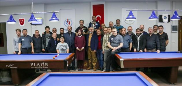 Bilardo şampiyonası heyecanı Meram'da yaşandı