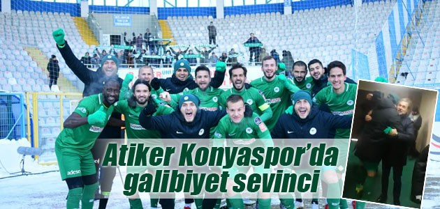 Atiker Konyaspor'da galibiyet sevinci