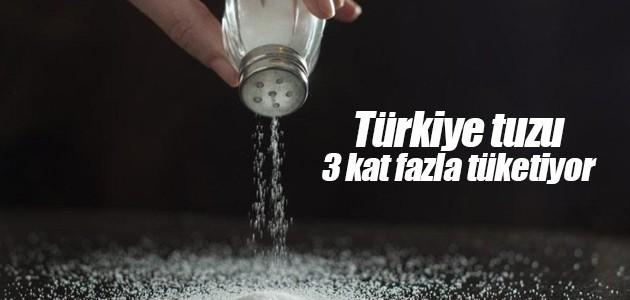 Türkiye tuzu 3 kat fazla tüketiyor