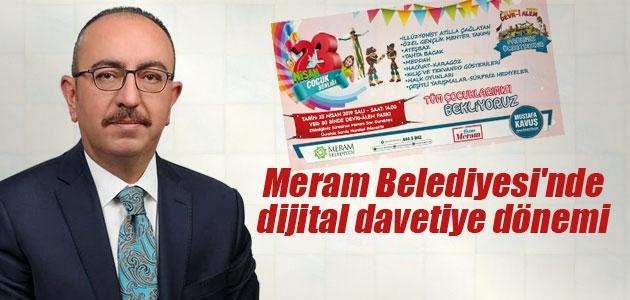 Meram Belediyesi'nde dijital davetiye dönemi