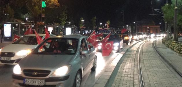 Konya'da galibiyet konvoyu!