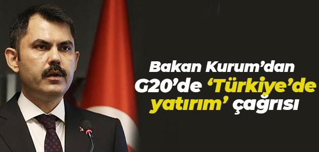 Bakan Kurum'dan G20'de