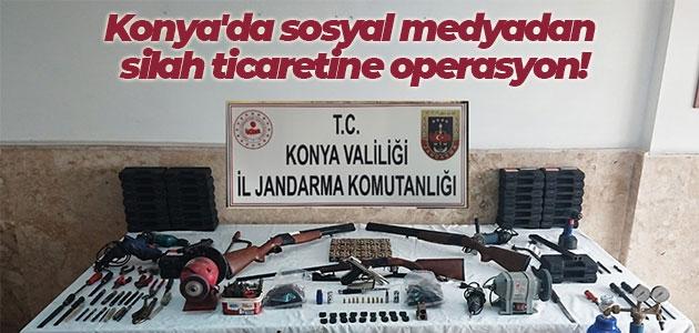 Konya'da sosyal medyadan silah ticaretine operasyon!