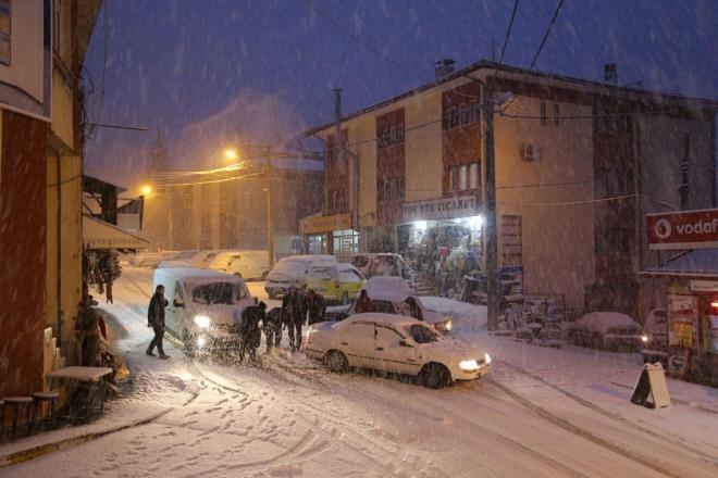 Konya'nın ilçelerinden kar manzaraları