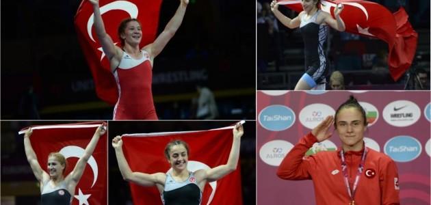 Kadın güreşçilerden tarihi başarı