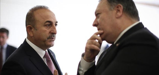 Çavuşoğlu ABD Dışişleri Bakanı Pompeo ile görüştü