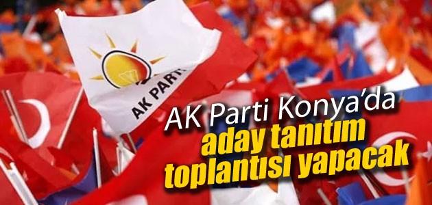 AK Parti Konya'da aday tanıtım toplantısı yapacak
