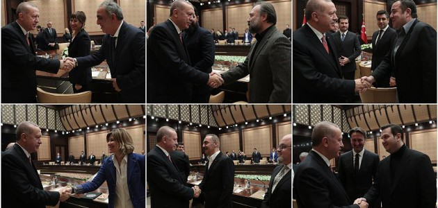 Cumhurbaşkanı Erdoğan sinema sektörü temsilcilerini kabul etti