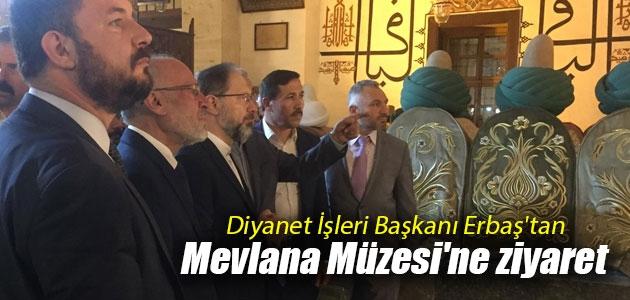 Diyanet İşleri Başkanı Erbaş'tan Mevlana Müzesi'ne ziyaret