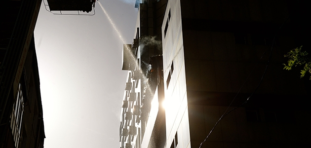 Eskişehir'de korkutan otel yangını