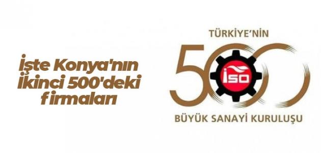 İşte Konya'nın İkinci 500'deki firmaları