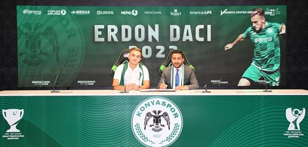 Konyaspor, Erdon Daci ile 2023'e kadar yeni sözleşme imzaladı