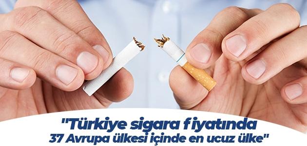 """""""Türkiye sigara fiyatında 37 Avrupa ülkesi içinde en ucuz ülke"""""""