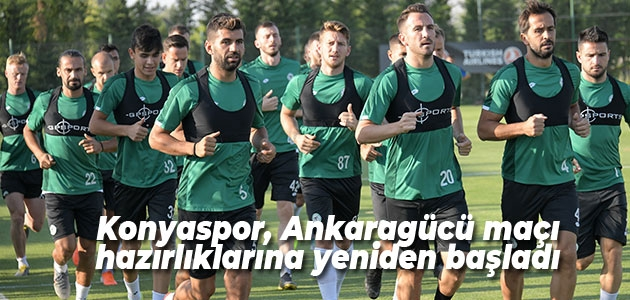 Konyaspor, Ankaragücü maçı hazırlıklarına yeniden başladı