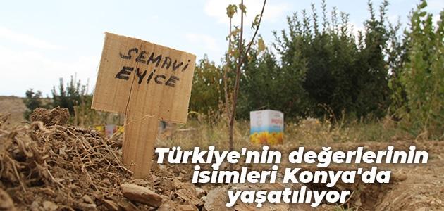 Türkiye'nin değerlerinin isimleri Konya'da yaşatılıyor