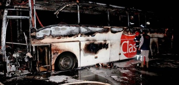 Aksaray-Konya kara yolunda yolcu otobüsünde yangın