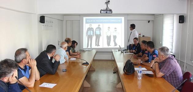 Zabıta personeline hizmet içi eğitim