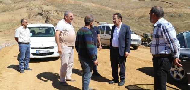 Başkan Hadimioğlu Yarıcak Göleti inşaatını inceledi
