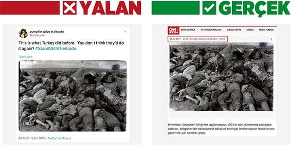 """Terör örgütü yanlılarından """"Barış Pınarı Harekatı"""" manipülasyonu"""