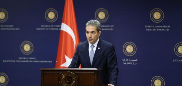 Dışişleri Bakanlığından BM yetkilisinin ifadelerine kınama