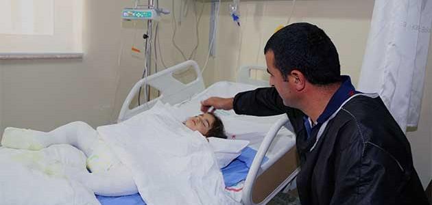 Ekmek tandırına düşen küçük Fatma Nur yanarak yaralandı