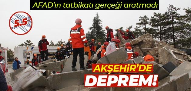 AFAD'ın deprem tatbikatı gerçeği aratmadı