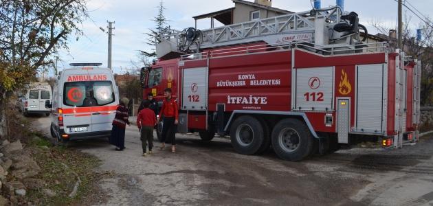 Konya'da ev yangını: 4 yaralı