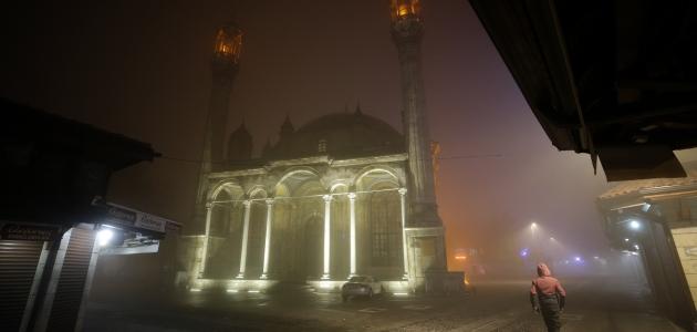 Konya'da sis