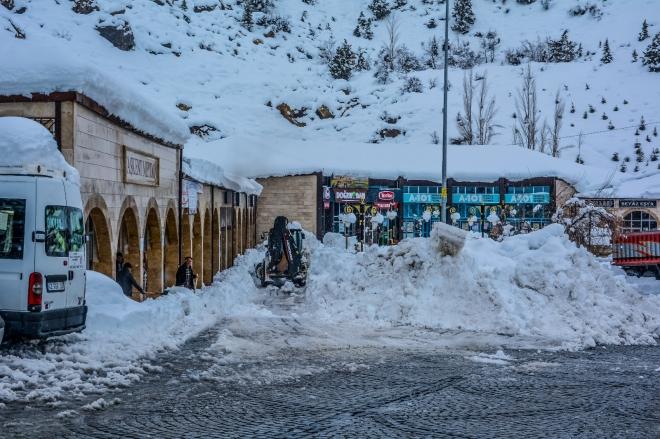 Konya'da muhteşem kar manzaraları