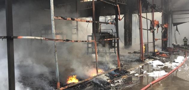 Plastik fabrikasında çıkan yangın kontrol altına alındı