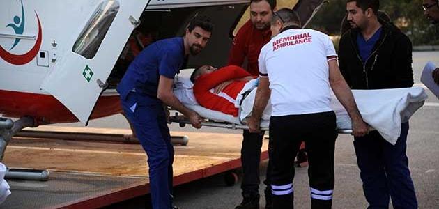 Jahovic, ambulans helikopterle Antalya'ya getirildi