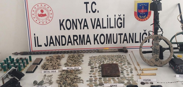 Konya'da eş zamanlı tarihi eser operasyonu: 11 gözaltı