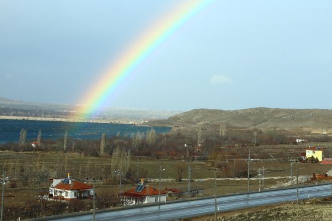 Konya'da gökkuşağı