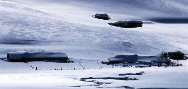 Toros dağlarında kar yağışı
