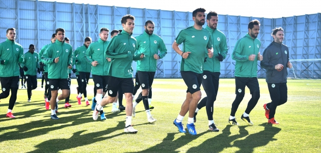 Konyaspor'da Kayserispor maçı hazırlıkları başladı
