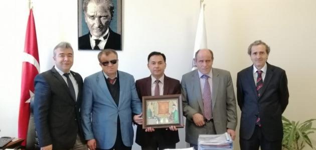 Konya engelli birimlerinden Rektör Uysal'a ziyaret