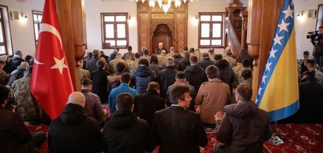 Saraybosna'da İdlib'de şehit olan Mehmetçik için gıyabi cenaze namazı