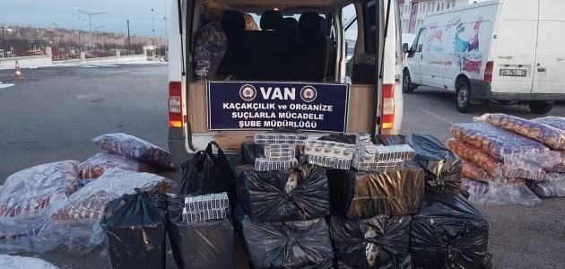 İki ayda 142 bin paket gümrük kaçağı sigara ele geçirildi