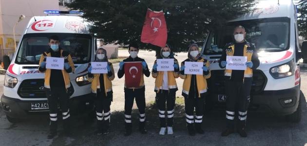 Seydişehir 112 ekiplerinden çağrı