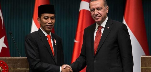 Cumhurbaşkanı Erdoğan, Endonezya Cumhurbaşkanı ile görüştü