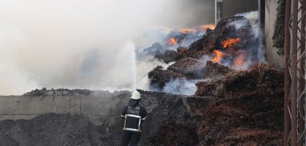 Pamuk yağı fabrikasında yangın