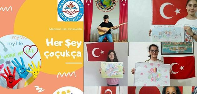 Konya'da ortaokul öğrencilerinden dünya çocuklarına mesaj
